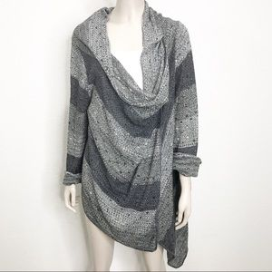 Two-one-two New York hi-low marled cardigan wrap